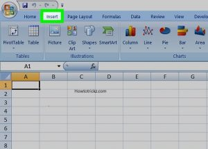 insert a watermark in excel