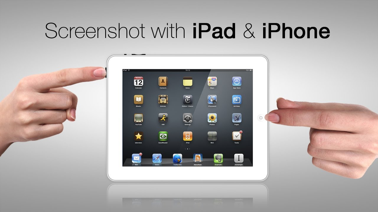 How to take screenshot in iPad