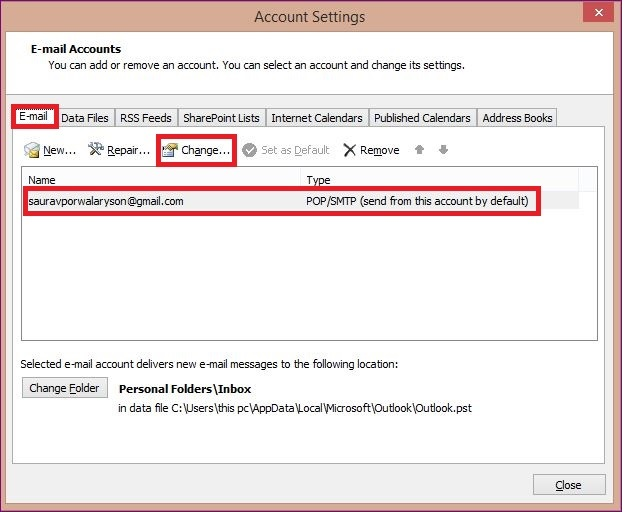 Outlook Settings Might Not Be Configured Properly 2